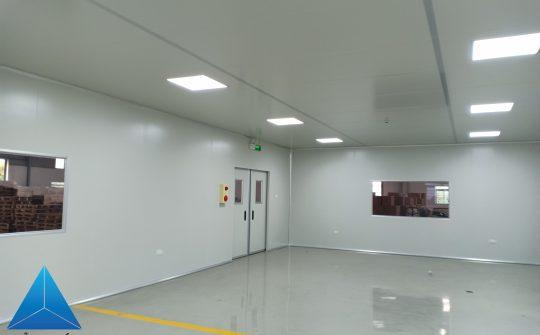 Thi công phòng sạch- Nhà máy Komlife